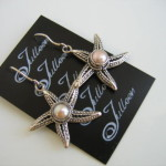 Star Fish Earrings Sterling Silver