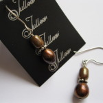 Bronze Pearl Earrings