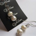 Pearl Earring in Sterling Silver