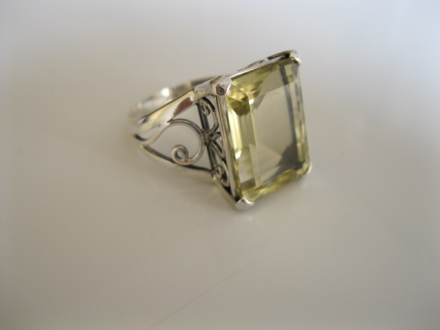 A cocktail ring in Lime Green