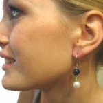 Pearl and Gemstone Earring Model