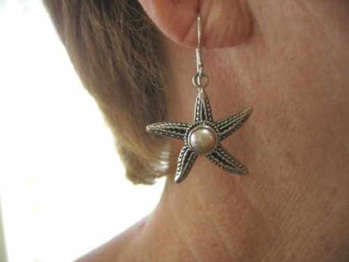 Star Fish Earring in Pink Pearl
