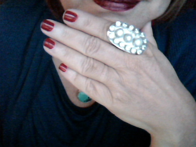 Julleen Pearl and Sterling Silver Rings Adjustable