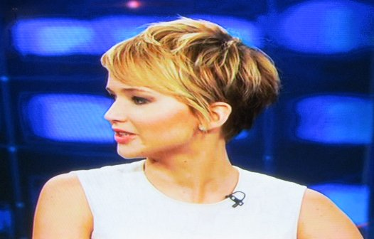 Short Hair Cuts and Long Earrings.Catching Fire!