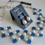Blue Agate and Pearl Set