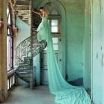 staircase-aqua-bride
