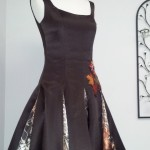 black short prom dress plum