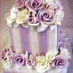 mauve-stripe-wedding-cake