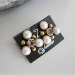 pearl amethyst earring