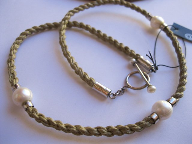 3 Pearl Rope Necklace in Sterling Silver – Beach Theme