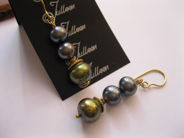 New Long Black Lustrous Pearl Earrings – for New Year