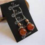 red.carnelain.pearl.earring.Julleen