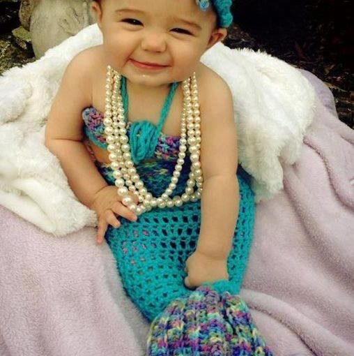 A cute as Mermaid with Pearls.