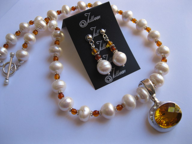 Another Happy Customer of a commissioned Pearl Jewellery Set
