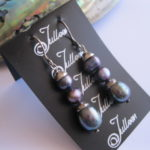 Triple-Black-Dangle-Pearl-earring