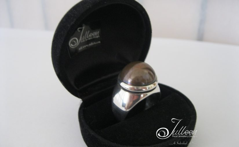 Black Mabe Pearl Dress Rings by Julleen Pearls