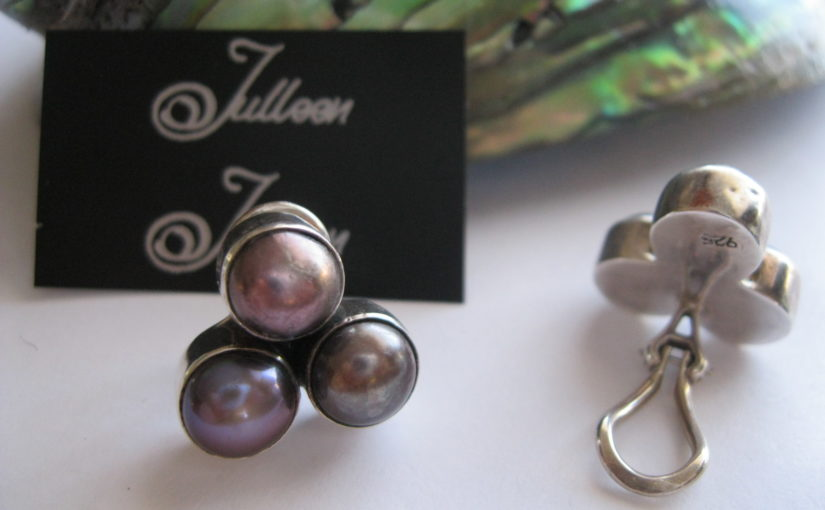 Clip On Pearl Earrings by Julleen Jewels
