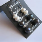 black-white-pearl earring- Mariko