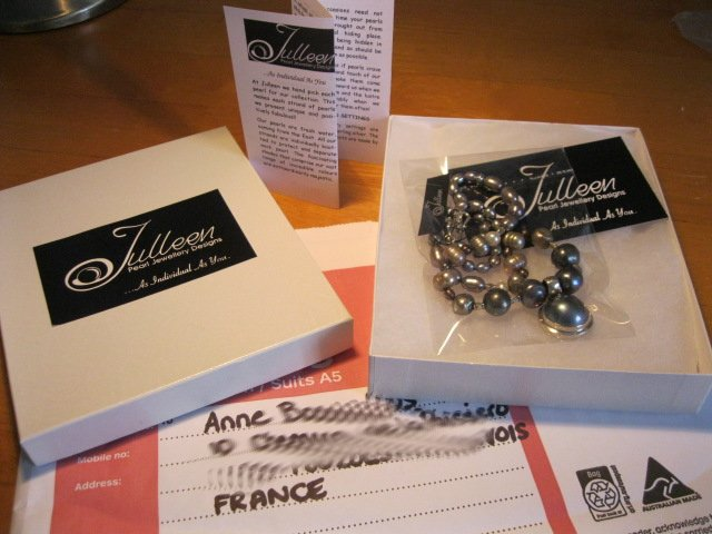 Julleen Jewels Deliver to France from Perth Australia