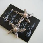 Star Fish Earrings Sterling Silver