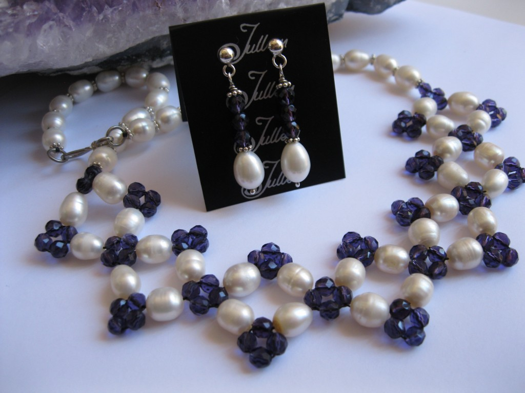 Amethyst Pearl Necklace