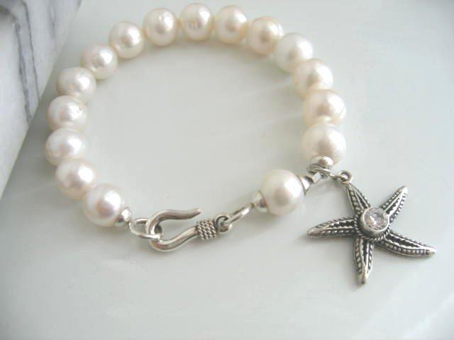 Pink Pearl Star Fish Bracelet
