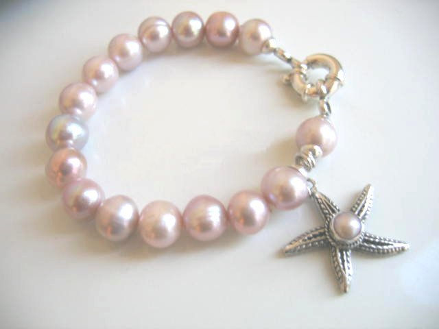Pink Pearl Charm Bracelet
