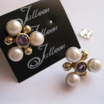 amethyst and pearl earing