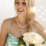 Model Wearing Designer Pearls