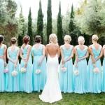 aqua-theme-bows-wedding-party