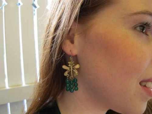 Emerald Green Chandelier Earrings on Squidoo