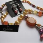 Orange Necklace Set