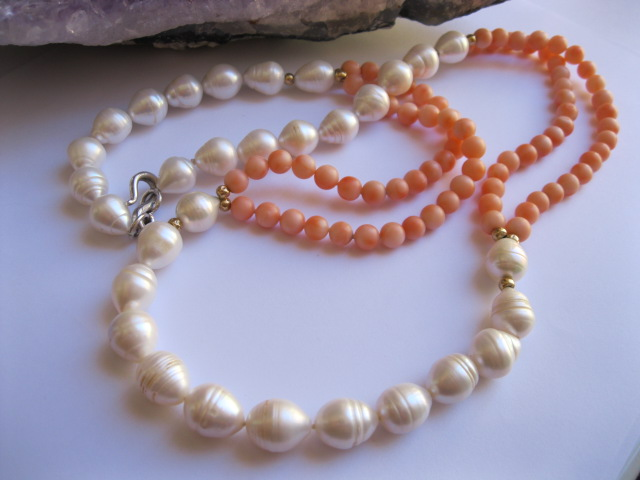 A Coral and Pearl Necklace