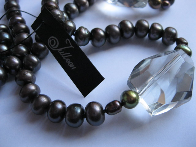 Love working with black pearls
