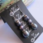 Triple-Black-Dangle-Pearl-earring