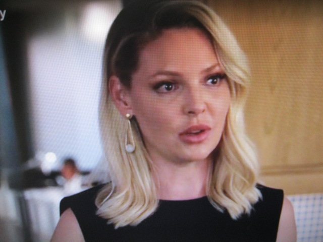 Katherine Heigl Who Plays Samantha on Suits, Wears a Julleen Design Earring
