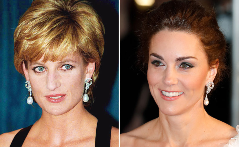 Princess Diana's Pearl Earrings Worn by Kate at the BAFTAs 2019. Spot the Difference