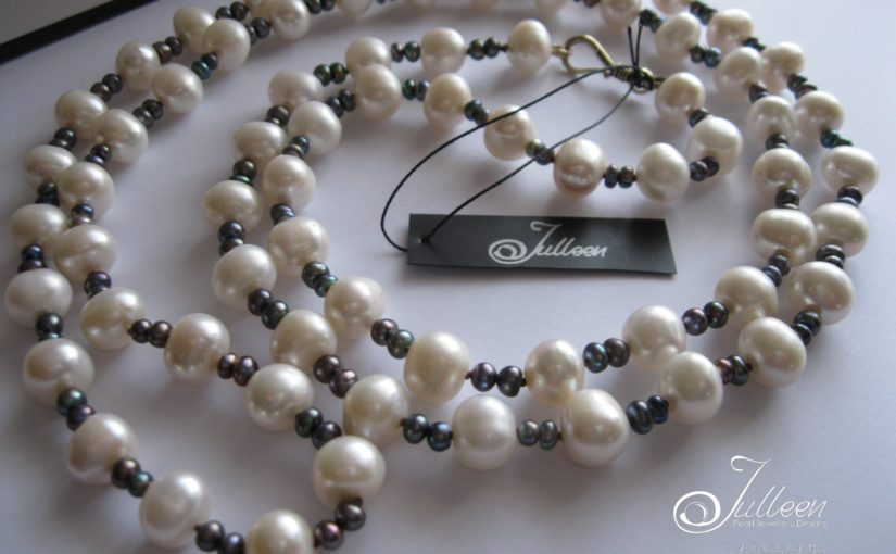Sometimes White Pearl Necklaces are just the thing!