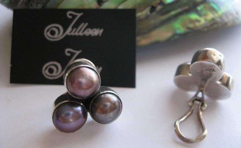 Clip On Pearl Earrings by Julleen Jewels