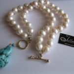 blue-nugget-turquoise-pearl-bracelet-Julleen-Jewels-on-Etsy.4