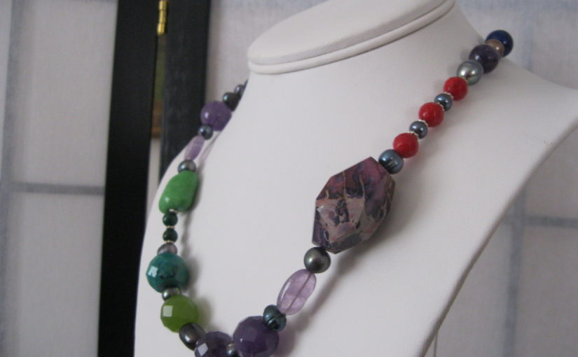 Custom Made Pearl Jewellery by Julleen – The Chakra Necklace