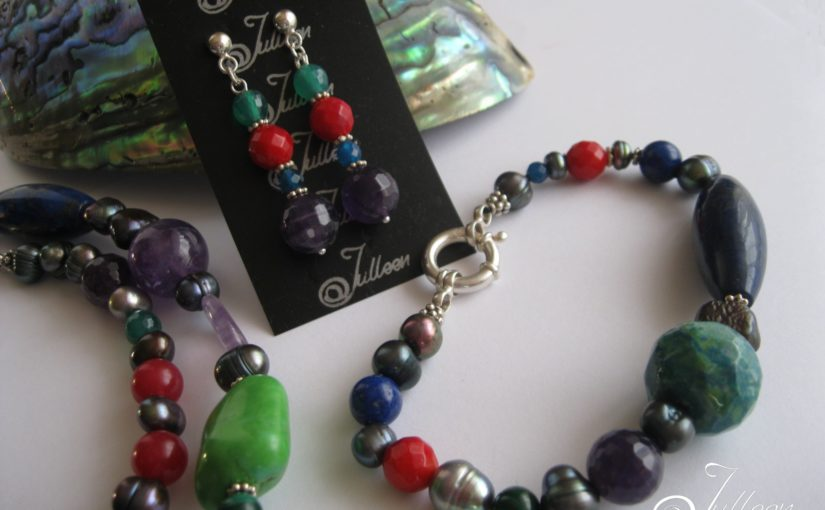 The Chakra Necklace Set by Julleen Jewels